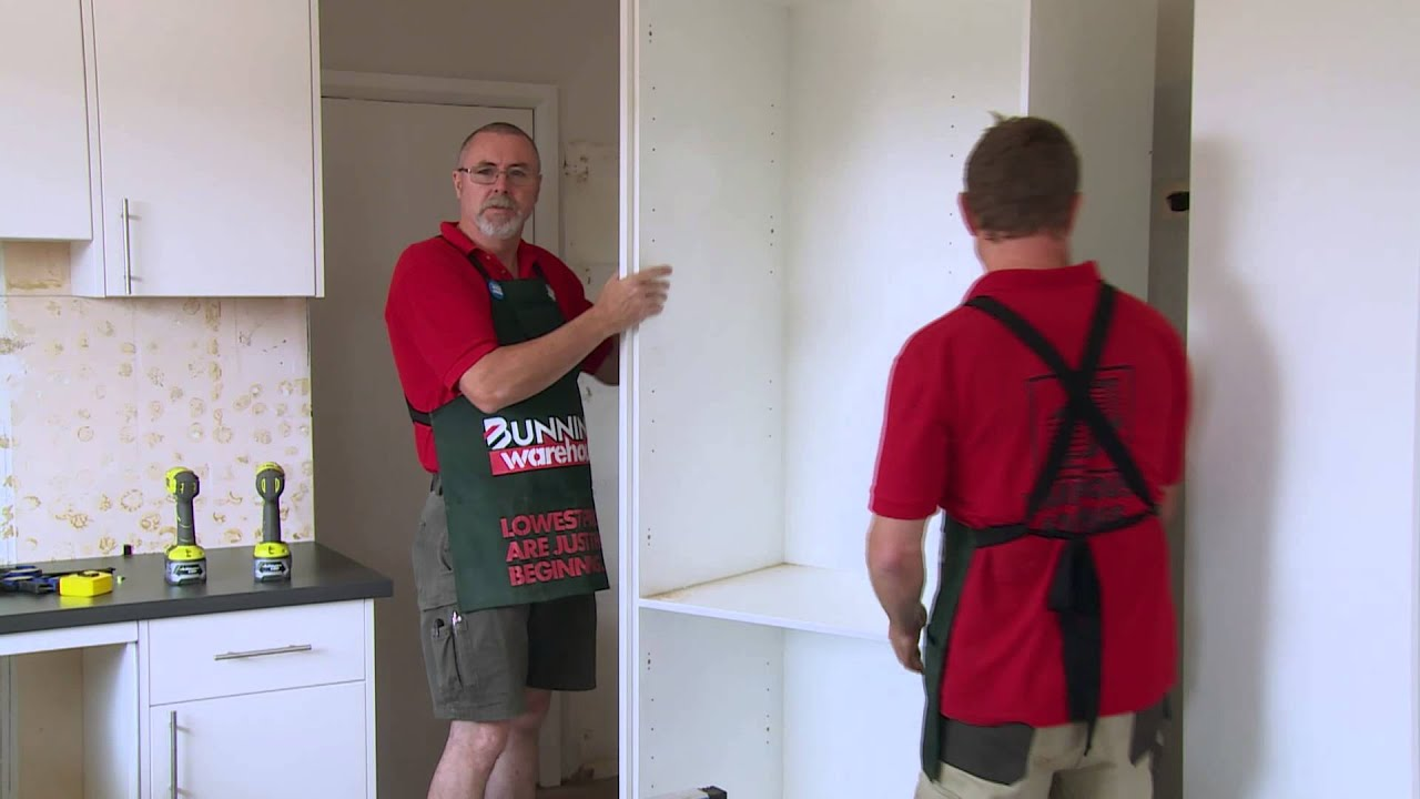 Kitchen Cupboards Bunnings How To Install A Kitchen Pantry Diy At Bunnings Youtube