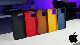 iPhone 12 Pro Max Apple Leather Case Review! ALL COLORS!