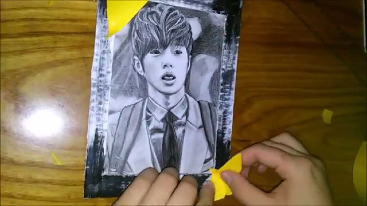 DIY: How to make frame for a drawing (picture) - YouTube