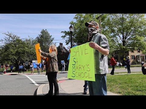 Parents Protest N.J. Catholic School Closure
