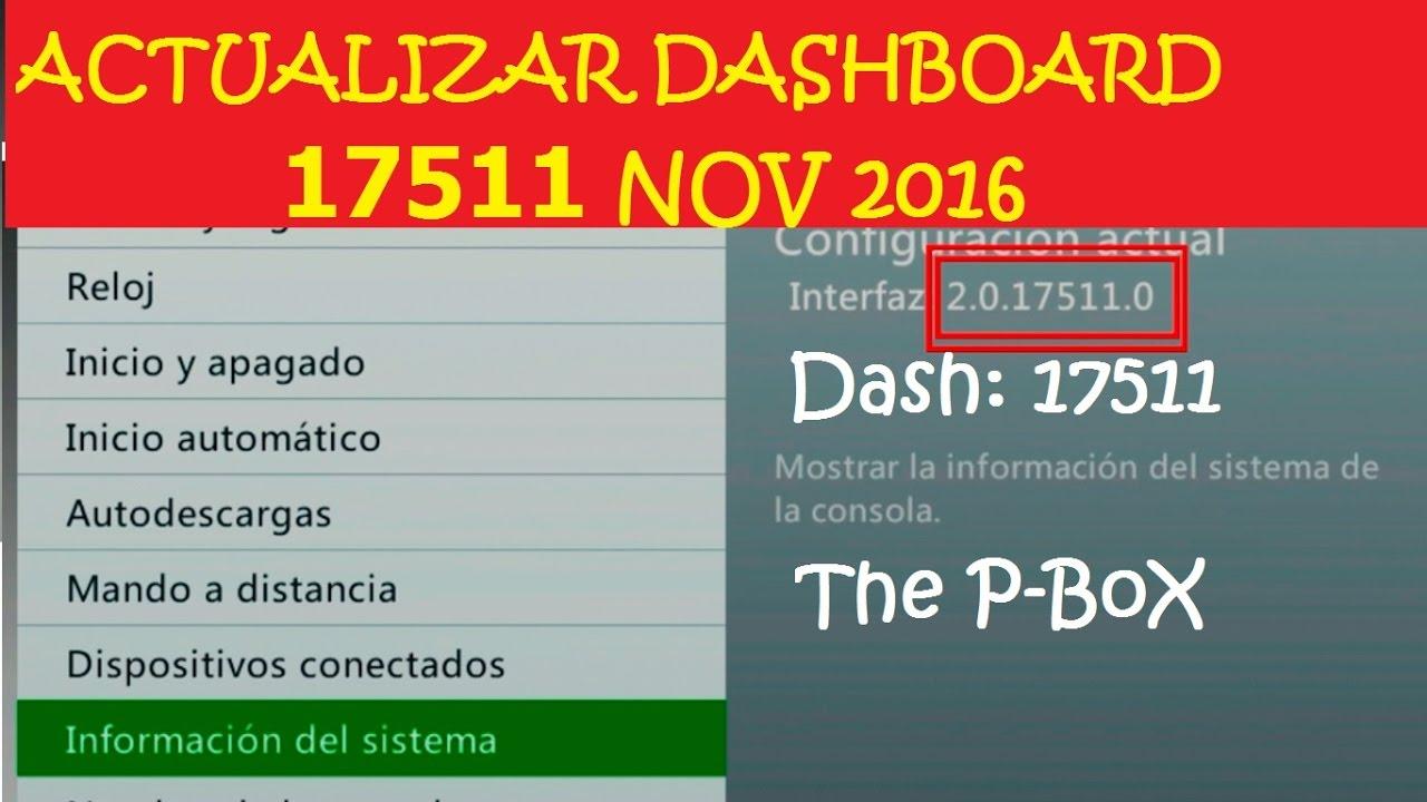 Como actualizar tu xbox 360 con rgh al dash 17511 2016 / 2017.