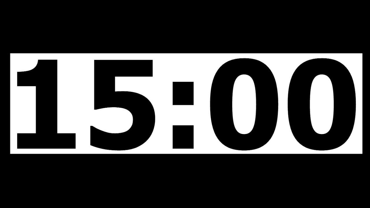 15 minut timer