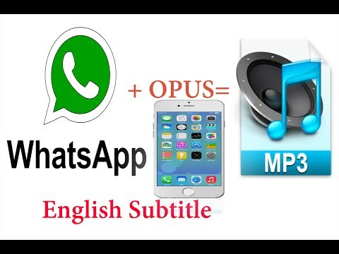 How to convert  WhatsApp voice opus to mp3 in iPhone/English subtitles