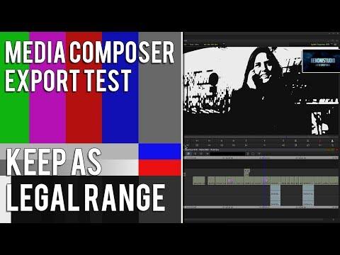 MEDIA COMPOSER EXPORT TEST | KEEP AS LEGAL RANGE
