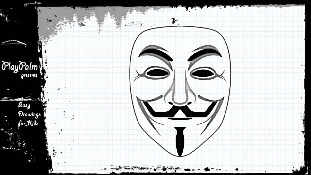 Draw The Guy Fawkes Mask Anonymous Mask Drawing