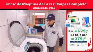 Curso de Máquina de Lavar Roupas  - Lavadora trepidando em ex…