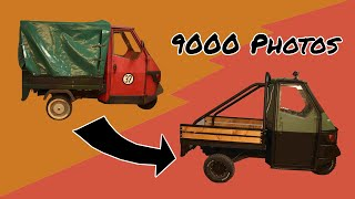 Scrap-Tricycle to OFFROAD-BEAST in 9000  photos| Piaggio Ape Stop Motion