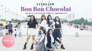 KPOP IN PUBLIC EVERGLOW BON BON CHOCOLAT DANCE COVER in PUBLIC INDONESIA