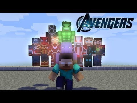 Monster School : Herobrine and the AVENGERS - Minecraft Animation