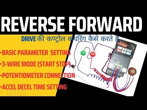 Delta Drive parameter setting | REVERSE FORWARD | Potentiometer | Accel  Decel Time in hindi
