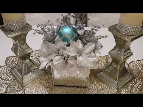 DIY CHRISTMAS WREATH | MIRROR BOX CENTERPIECE | 2017