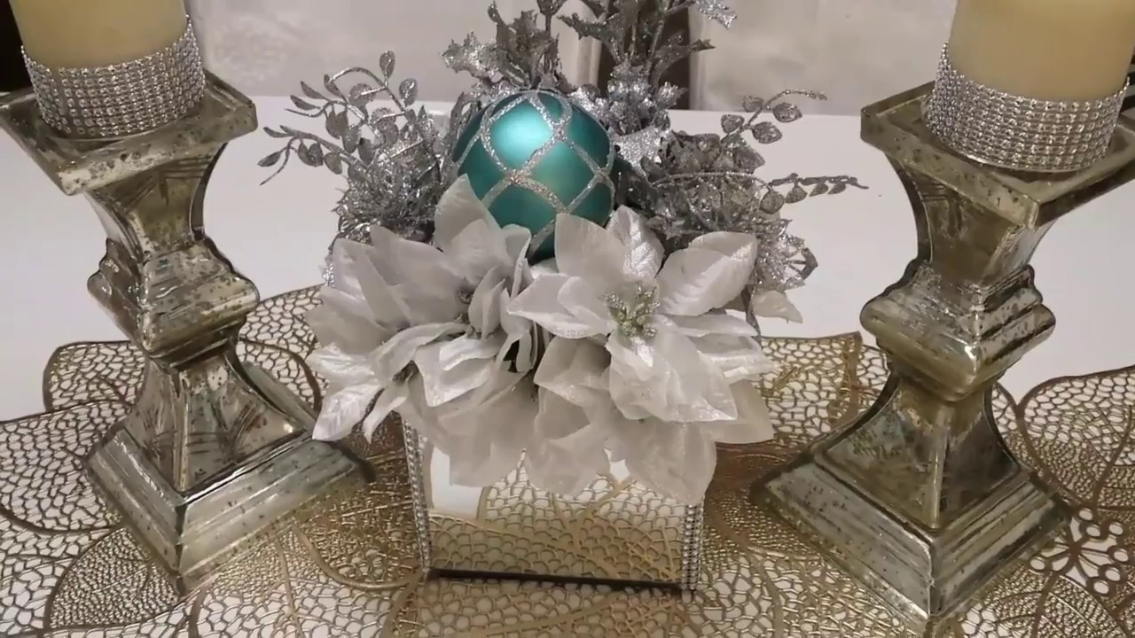 DIY CHRISTMAS WREATH  MIRROR BOX CENTERPIECE  2017  YouTube