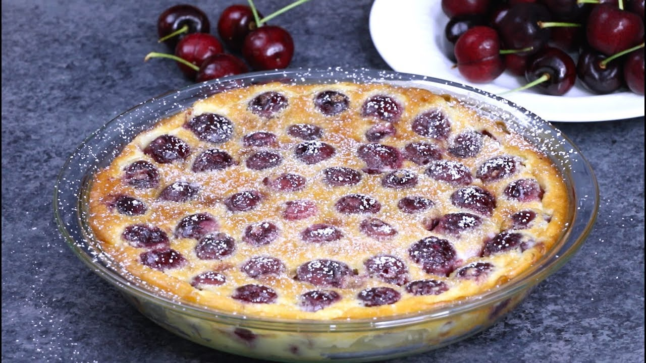 Easy Cherry Clafoutis - YouTube