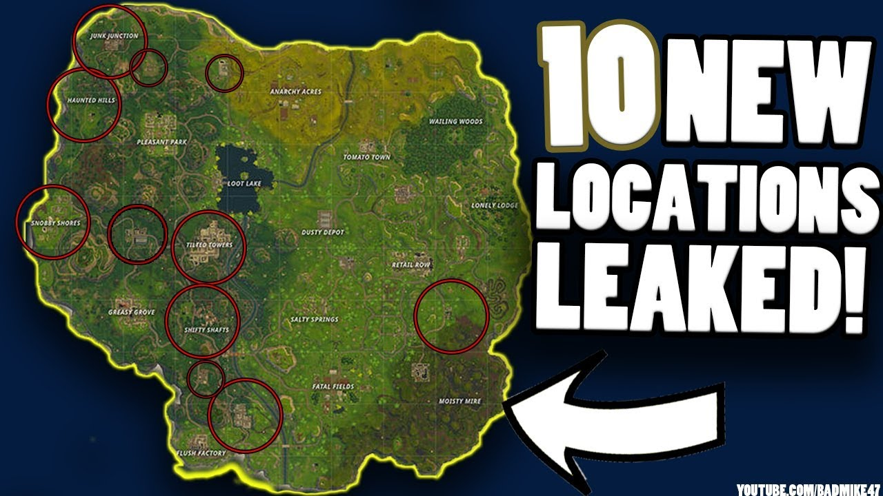10 New Locations Leaked Fortnite Battle Royale New Map Revealed