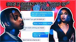 "DDG ""HOLD UP"" LYRIC TEXT PRANK ON MY EX GIRLFRIEND BACKFIRED!!!"