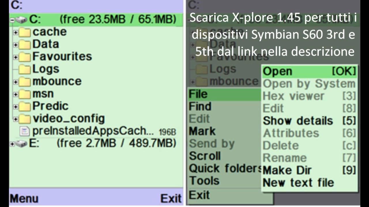 xplore para symbian