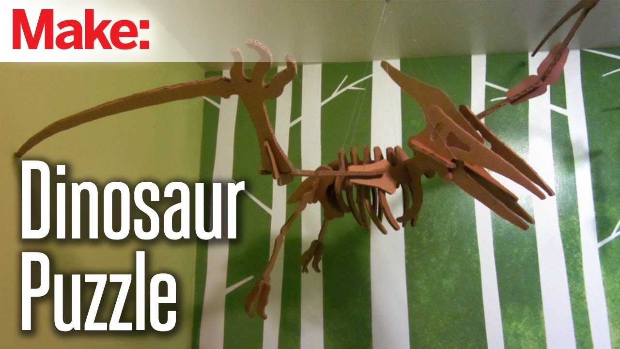 Cardboard Dinosaur Puzzle 8 Steps With Pictures