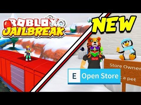 BRAND NEW PETS UPDATE!! Roblox Jailbreak and Snow Shoveling Simulator! New Pets, Train, Volt Bike!