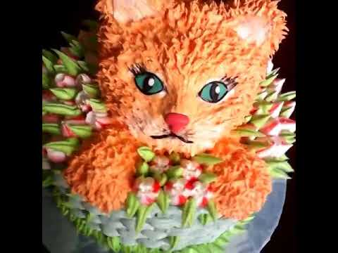 торт кошечка фото из крема