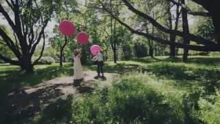 Очень красивая свадьба.  Фуксия и изумруд.