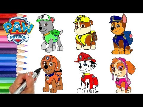 Paw Patrol Coloring Book Compilation Episode Chase Skye Marshall