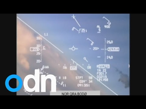 Russian MiG nearly collides with Norwegian F-16 fighter jet
