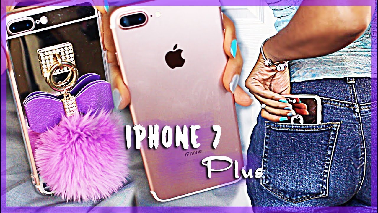 iPHONE 7 PLUS UNBOXING & New Cases!!⎜Rose Gold ♥ - YouTube