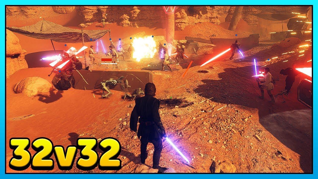 Download 32v32 Heroes vs Villains - Star Wars Battlefront 2 Mod Gameplay