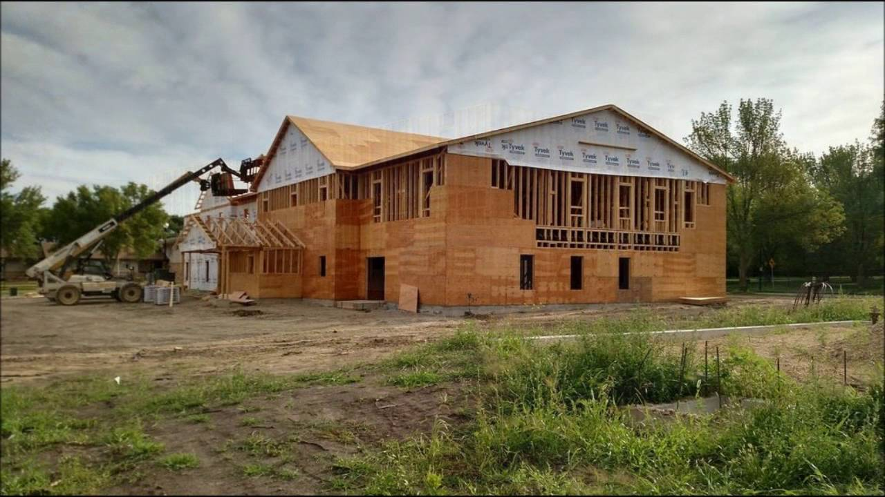 Sdsu farmhouse fraternity new house construction timelapse for New construction farmhouse