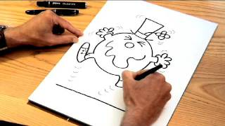 How to Draw the Mr Men characters -- MR FUNNY