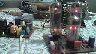 Ламповый усилитель своими руками.с импульсным Б/П на IR2153