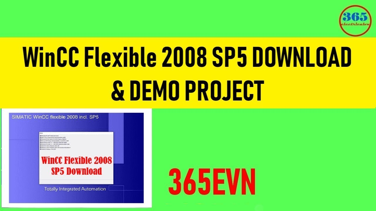 WinCC Flexible 2008 Sp5 Download For Windows 7 and Windows 10 x64