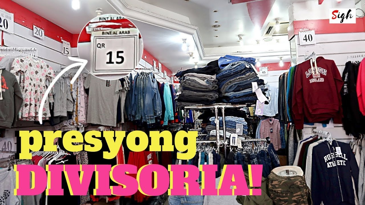 DIVISORIA here in Qatar | Shopping CHEAP Clothes at Doha Souq or KABAYAN  Filipino Souq