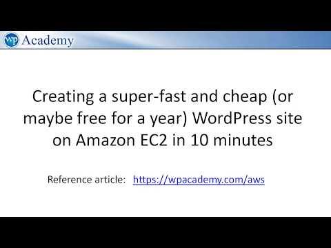 Video] Migrate your WordPress site to Amazon AWS/EC2 — a