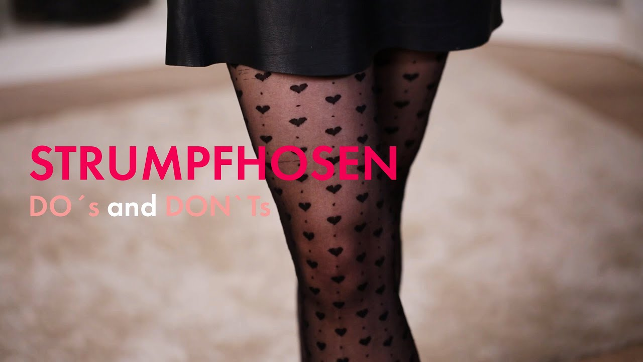 Strumpfhosen mit Muster » Do\'s and Don\'ts im Modetutorial | How To ...