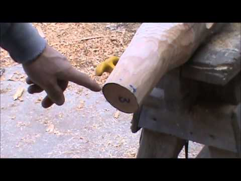How To Build Curved Log Railings Youtube