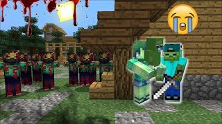 ZOMBIE FAMILY SURVIVAL AGAINST ZOMBIE APOCALYPSE WITH DEADLY WEAPONS !! Minecraft Mods