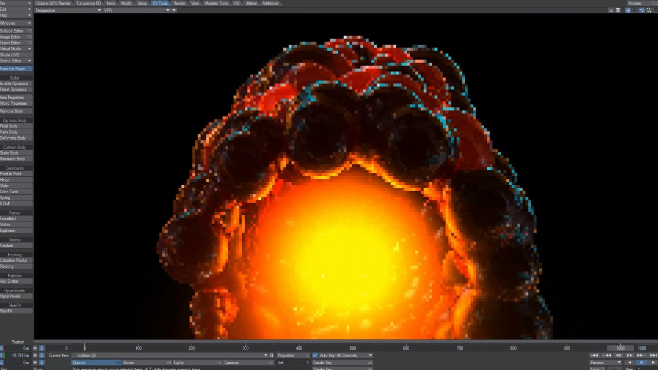 Hypervoxel Particles with Volumetric Light Inside
