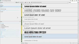 CorelDRAW Graphics Suite X8 - Corel Font Manager (Part 1)