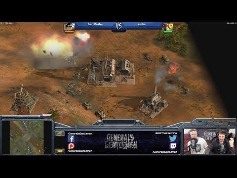 Epic Game - GenMaster(Laser) vs scuba(Demo) [Command & Conquer Generals Zero Hour]