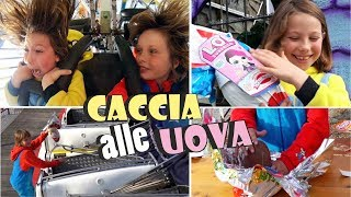 EGG HUNTING IN LUNAPARK - Eggs toys surprise Ester 2019 - Canale Nikita