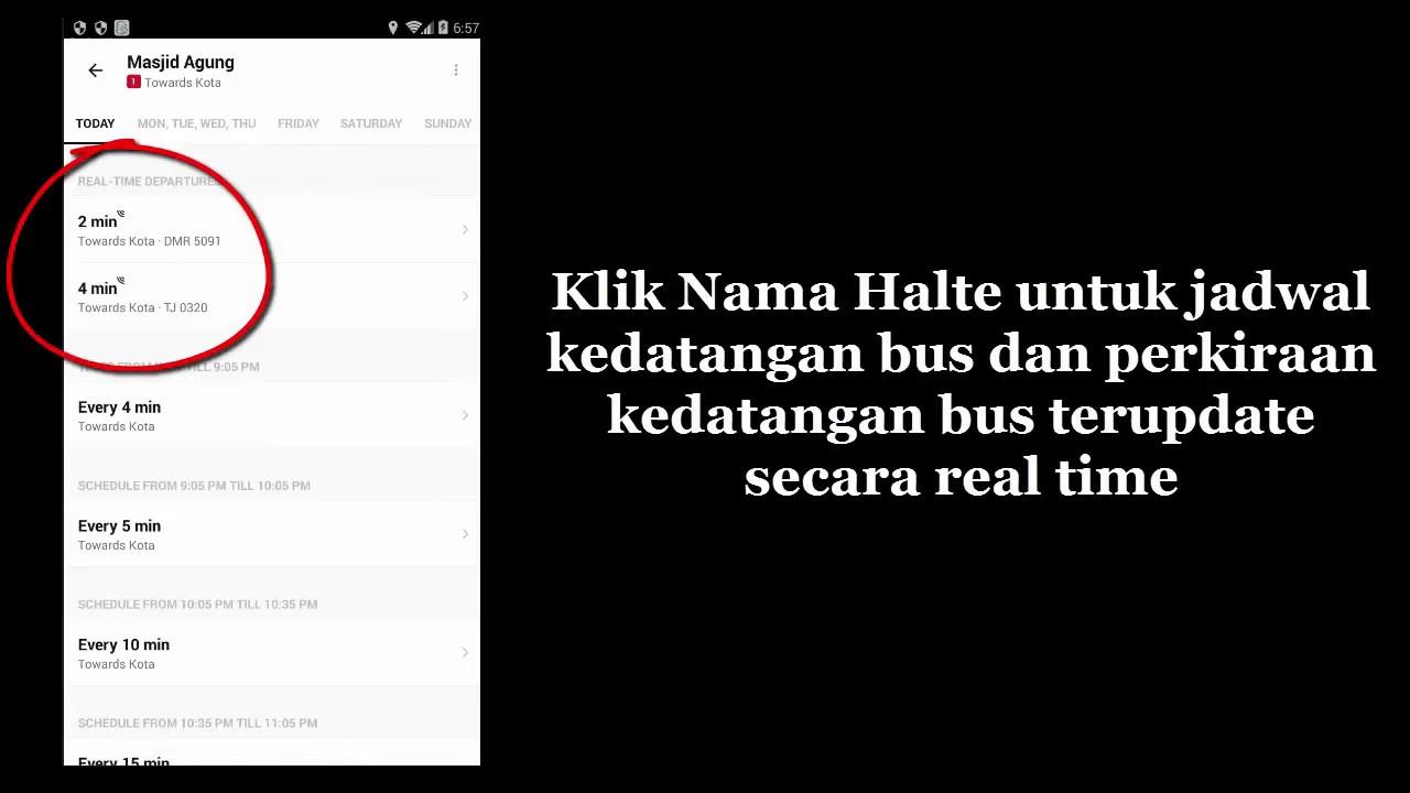 Cara Mengetahui Posisi Bus Transjakarta Busway Dengan Hp Android