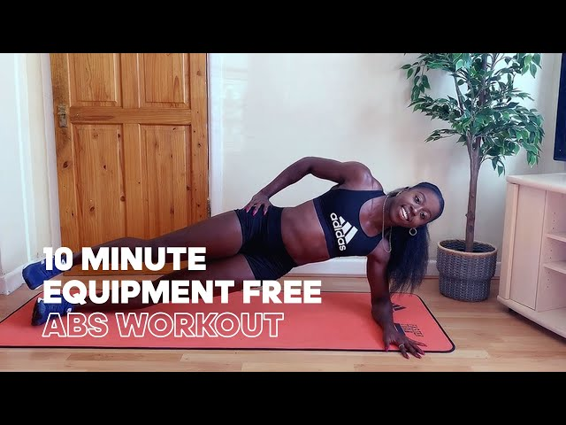 10 Minute EQUIPMENT FREE Abs Workout - Train like Olympic Sprinter Desirèe Henry