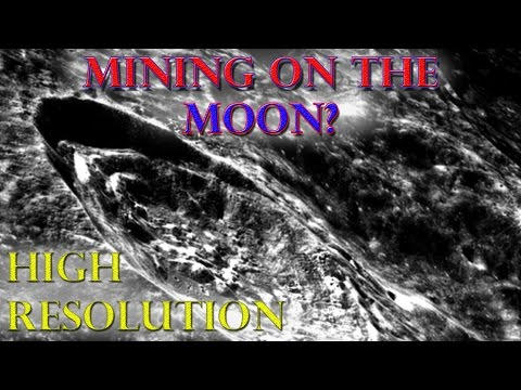 Moon - MINING on the moon ? - HIGH resolution