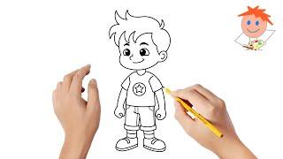 draw boy drawing step
