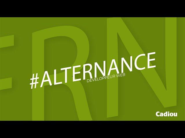 #ALTERNANCE - Développeur web