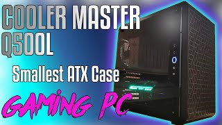 300$ - Smallest ATX Case Cooler Master Q500L Budget Gaming PC Time Lapse Build 2020