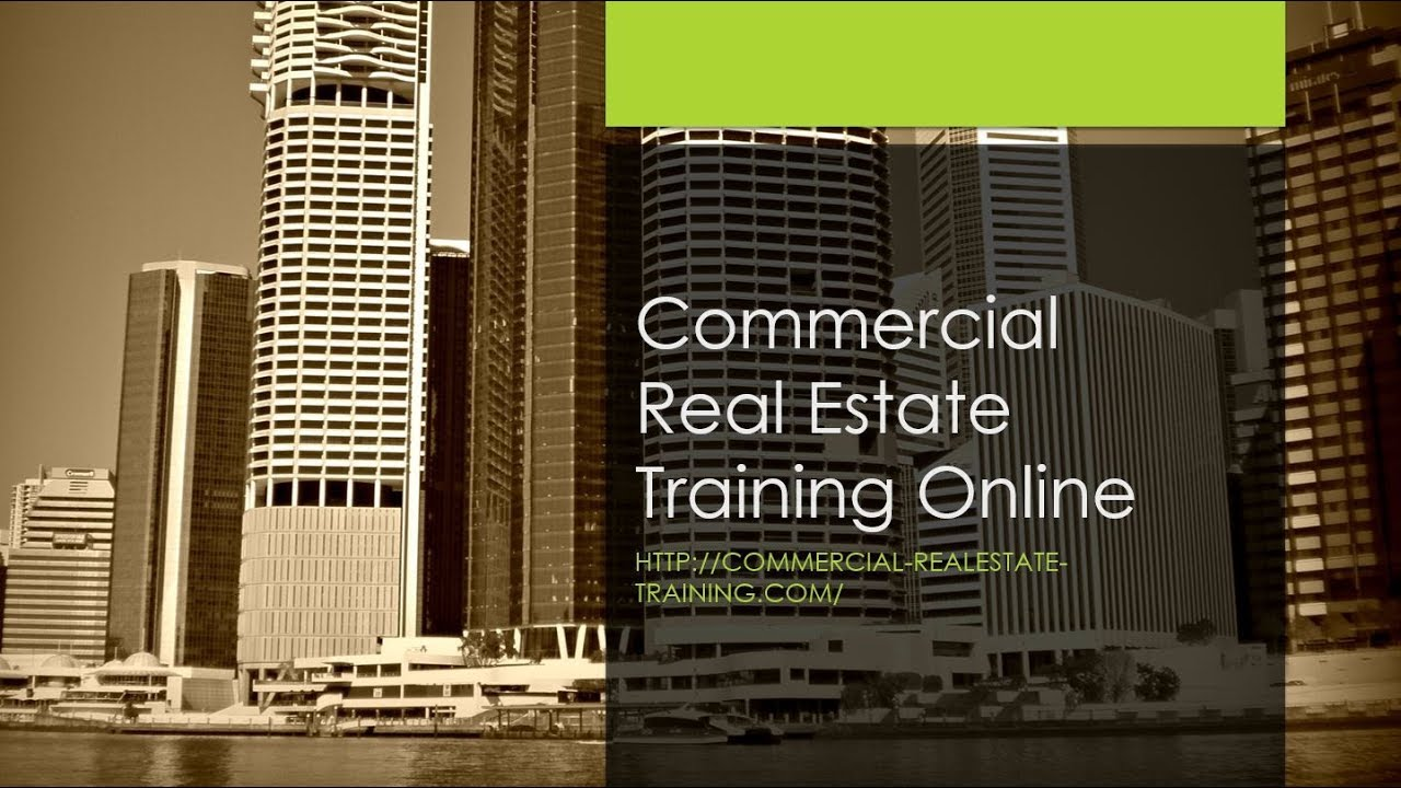 Commercial Real Estate Training Online Introduction Youtube