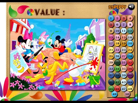 Mickey Mouse and Friend\'s - Painting Color Math Game - Mickey Mouse ...