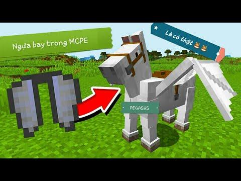 Cách tạo ra ngựa bay PEGASUS trong MCPE | Addon Minecraft PE 1.6